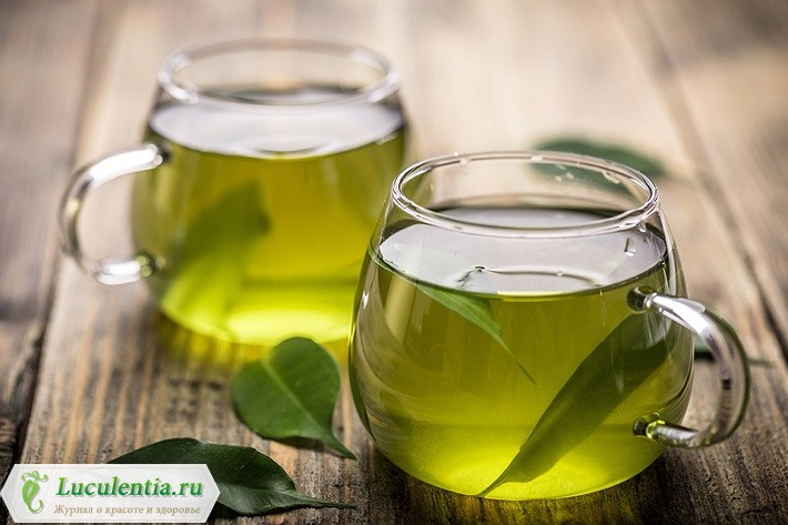 Чашечки зеленого чая