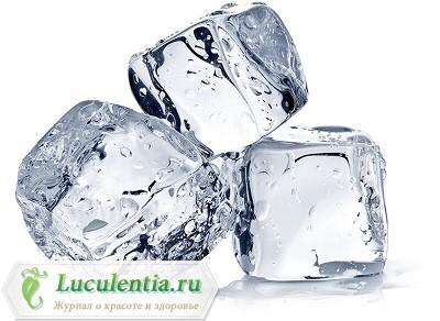 Кубики льда из термальной воды