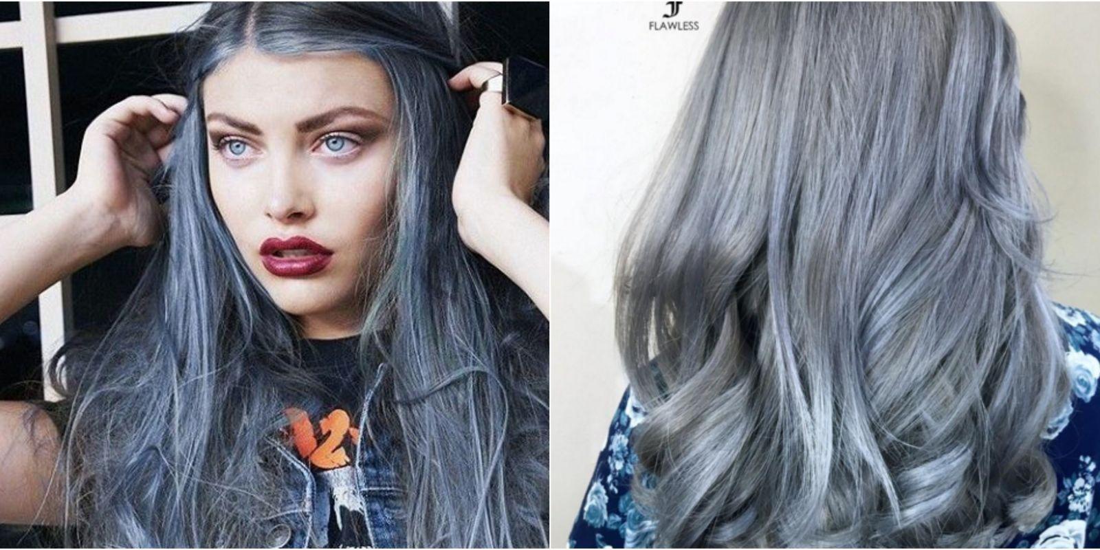 Пепельно-голубые волосы