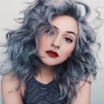 Пепельно-голубой цвет волос
