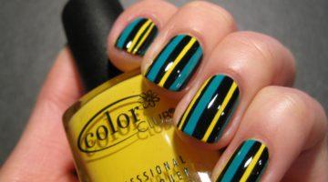 Разноцветные линии на ногтях – маникюр для минималистов