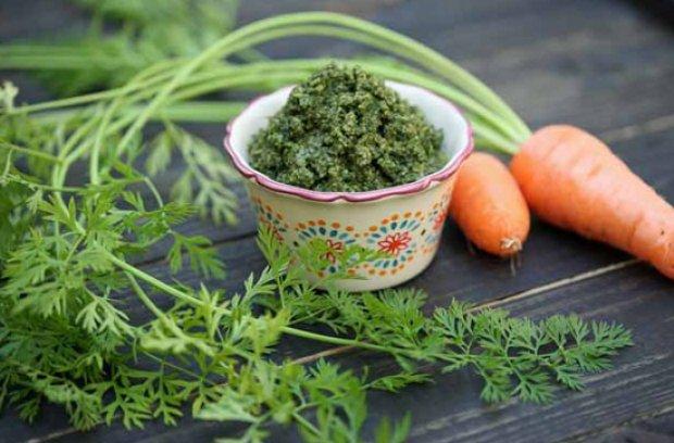 Морковная ботва в качестве заварки для чая