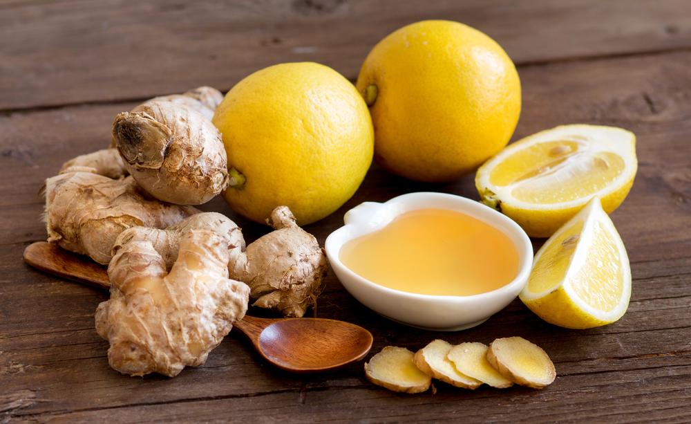 Лимон, имбирь и мёд