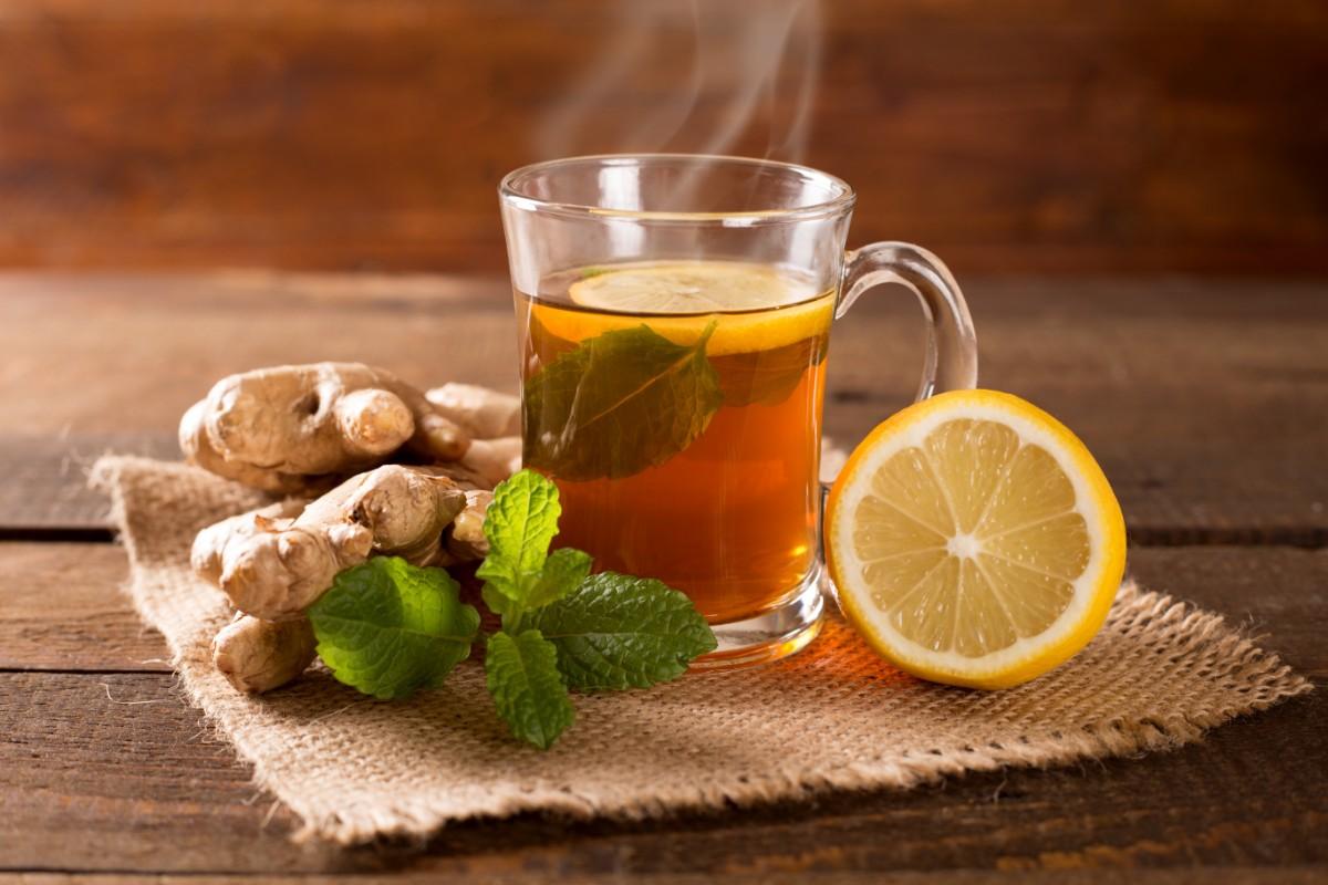 Чай с лимоном и имбирём