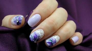 Фото: китайская роспись на ногтях