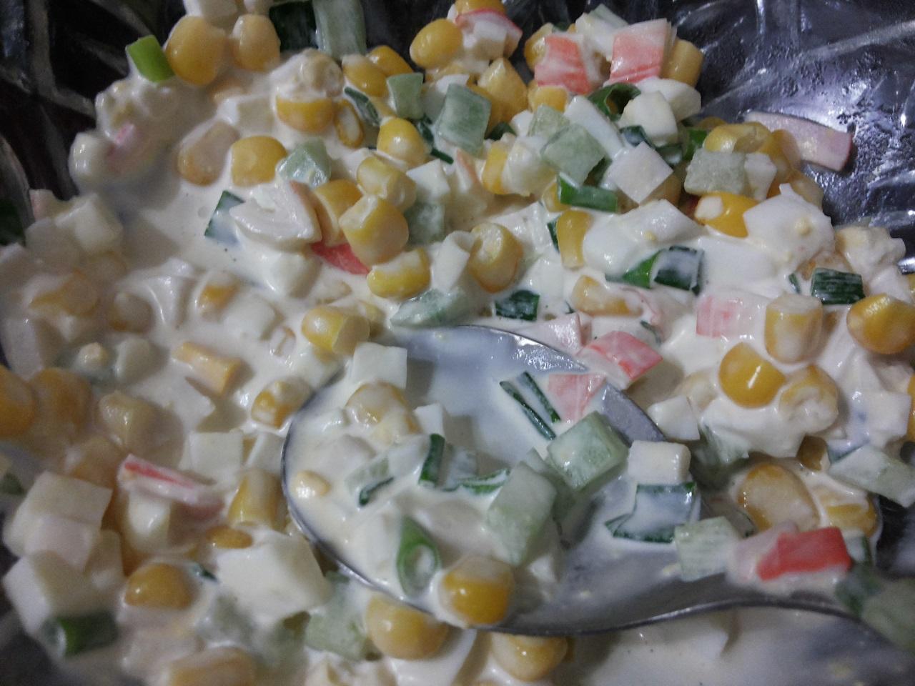 Салат с использованием лука-батуна